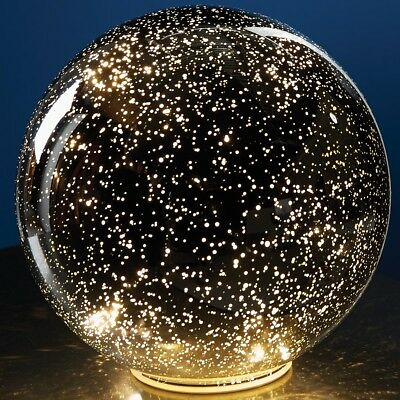 Lighted Mercury Battery Operated Glass Ball Sphere For Home Decor