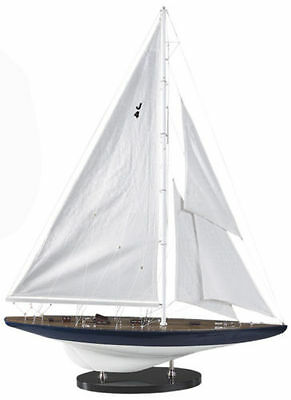 """America's Cup Rainbow J Class Sailboat 25.5"""" Wooden Model Yacht Assembled"""