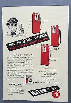 1950 National Gas pump ad