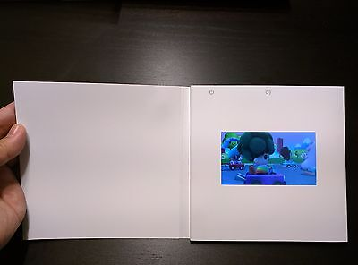 """Video 4.3"""" LCD greeting card invitation chip sound music voice talking musical"""