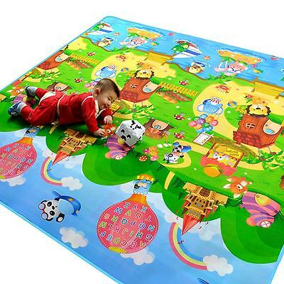 Baby Kid Soft Play Mat Farm Letter Cute Carpet Playmat Blanket Rug 200*180*0.5CM