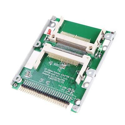 """2.5"""" Dual CF Compact Flash to 44 pin IDE Male Adapter Converter Brand New 45MX"""