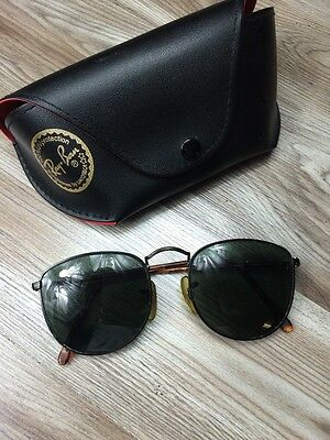 VINTAGE B&L RAY BAN BAUSCH & LOMB Gold Wire TORTOISE SHELL BLACK SUNGLASSES