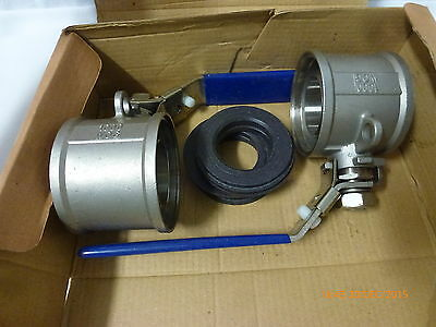 Ball Valve 1-1/2-inch CF8 (Stainless Steel) 1000 psi WOG - Qty 2 - New