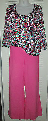 ❤️ LILLY PULITZER Wide Leg Pallazzo Flat Front Pants HOT PINK sz 6 *AS-IS