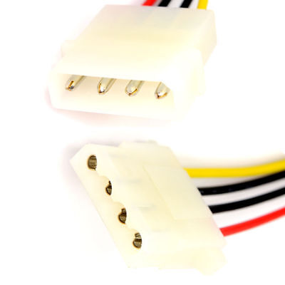12cm Power Extension Cable 4 pin LP4 Molex Male to Female [005481]