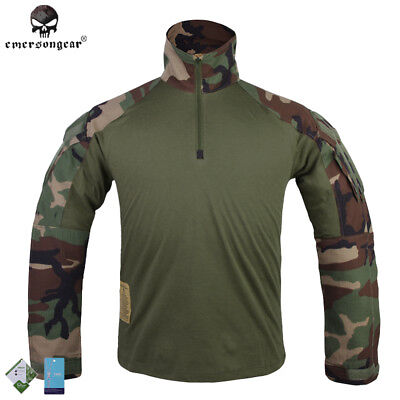 Emerson G3 Combat Shirt Tactical Military Army Airsoft Hunting Woodland EM9278