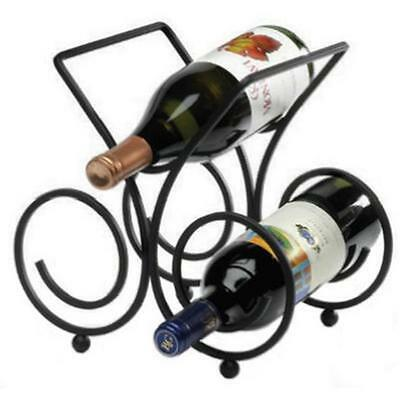 Spectrum Diversified 48010 3 Bottle Black Wine Rack