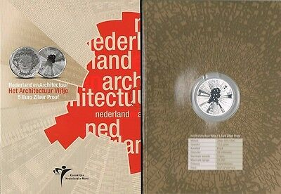 5 euro 2008 Architectuur zilver Vijfje Nederland Holland PP - Proof in Blister
