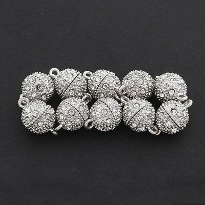10x Ball Strong Magnetic Clasps Connectors Zirconia DIY 12mm BF