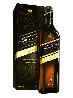 Johnnie Walker DOUBLE BLACK CL. 70 Blended Scotch Whisky Label + ASTUCCIO REGALO
