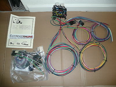 ez wiring 12 mini wiring harness chevy ford mopar hotrods ez wiring 12 standard fuses harness universal street hot rod chevy ford gm
