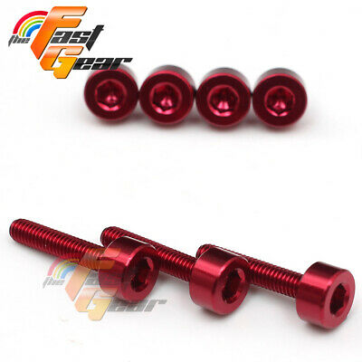 TFG Red fuel cap bolts For Honda CBR1000RR Fireblade 2004-2007