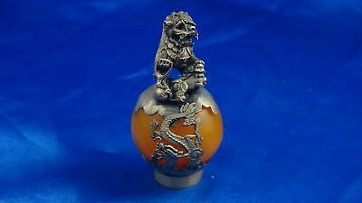 19th C Antique Chinese Mandarin Hat Button Finial Qing Dynasty Imperial Rank