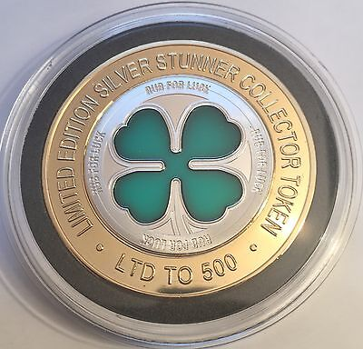 "2016 LUCKY 4 LEAF CLOVER ""SILVER STUNNER"" 43mm COIN & C.O.A. LTD 500"