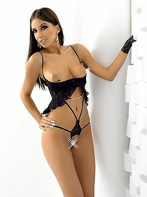 Brusthebe-Body ouvert String Schwarz 38 40 42 44 46 **SPA017