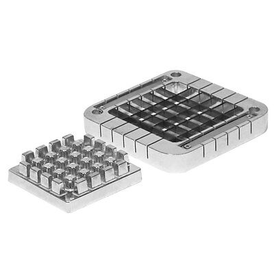 """Choice 1/2"""" Stainless Steel Blade Assembly and Push Block for French Fry Cutters"""