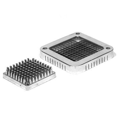 """Choice 1/4"""" Stainless Steel Blade Assembly and Push Block for French Fry Cutters"""