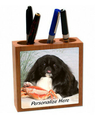 Pekingese   black and white color  ( 10 )  Personalized  Pencil and Pen Holder
