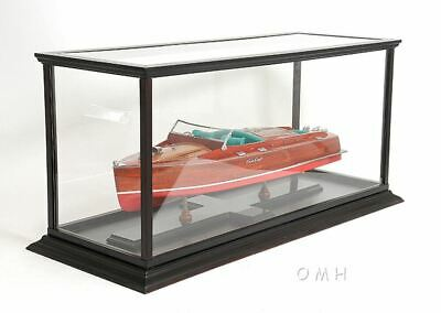 "Display Case Cabinet 40"" Wood and Plexiglass For Yachts,Ship,Boats Models"