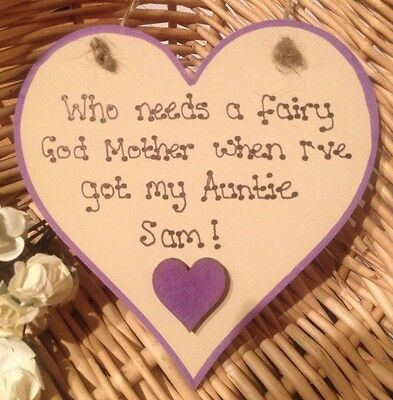 Personalised Wooden Heart Plaque Mum Nanny Daddy Auntie Any Name Bespoke Keepsak