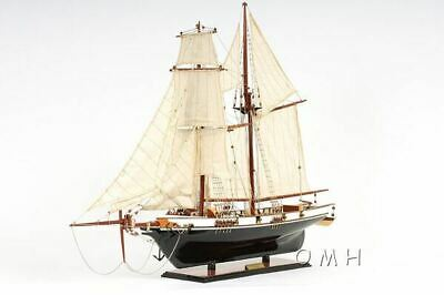 """Harvey Baltimore Clipper Tall Ship 35"""" Wood Model Painted Boat Assembled"""