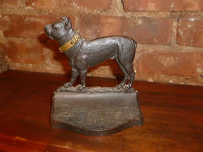A Fantastic Vintage B&H  Doorstop Book End Cast Iron Bronze Clad. RARE!!!