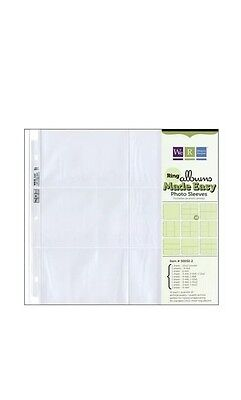 P118 We R Memory Keepers 12 x 12 inch Multi Pack 3-Ring Album Photo Sleeve