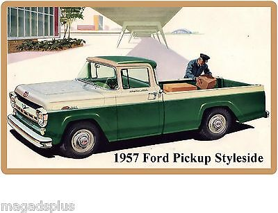 1981 Ford Flaresides Pickup Truck  Refrigerator Tool Box Magnet