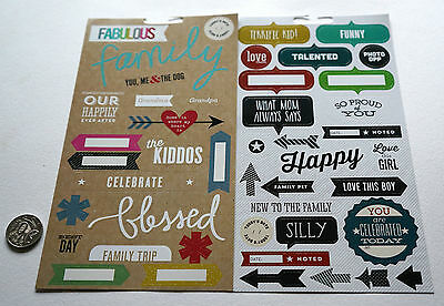 Scrapbooking No 419 - 30+ Medium To Large Die Cut Family Themed Stickers