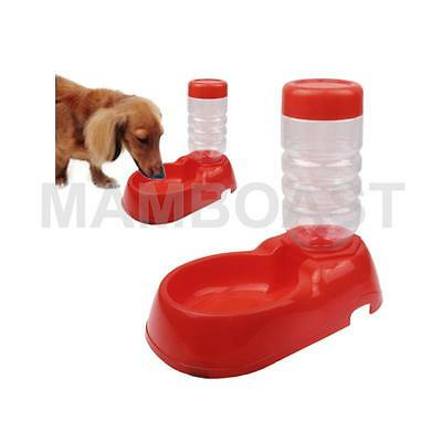 Pet Plastic Basin Automatic Water Dispenser (Red)
