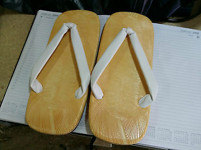 Japanese Sumo Traditional Sandals Small Size Heel 10.5X26.5Cm Handmade