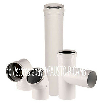 Pipes Aluminum Ø 60 Painted White For Pellet Stoves Boilers Wood