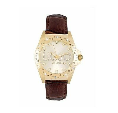 Liu Jo Luxury Venus TLJ344 Orologio Watch Woman Uhr Donna Marrone Oro Pelle  New 705d53f221f