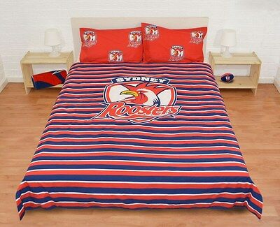 Sydney Roosters 2016 NRL Quilt Cover Set Sizes Single Double Queen Duvet Doona