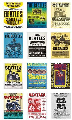 The Beatles USA Concert Posters Trading Card Set Vol 2