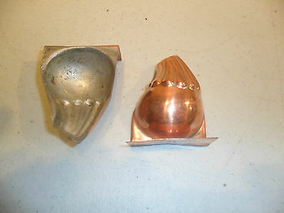 """Antique Victorian  Interesting Pair Of Copper Chocolate Moulds 21/4"""" X 13/4"""""""