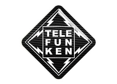 "Telefunken 1""x1"" Chrome Domed Case Badge / Sticker Logo"