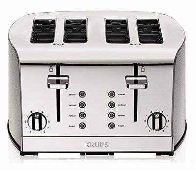Toaster 4 Slice Stainless Steel Brushed Chrome
