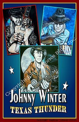 Poster of Johnny Winter Texas Thunder by Cadillac Johnson