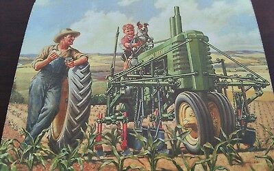 NIP John Deere Coasters-Farm Scene set of 4