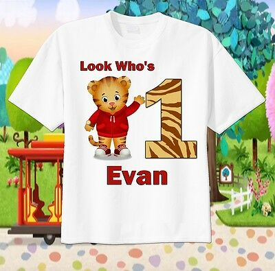 DANIEL TIGER Custom T-SHIRT Personalize tshirt Birthday gift Choose Name and Age