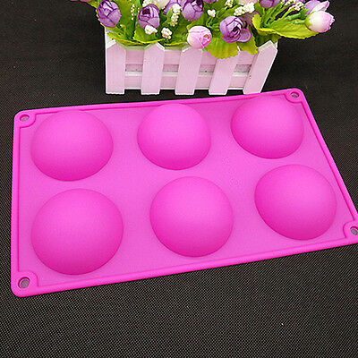 Silicone Half Ball Sphere Mold Cake Fondant Chocolate Muffin Baking Mould 28.5cm