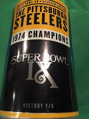 2015 Pittsburgh Steelers Football Nfl Kickoff Bud Light Beer Can