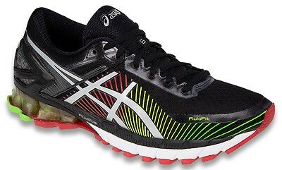 ASICS Men's GEL Kinsei 6 Running Shoe Black Silver Red T642N