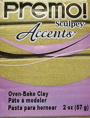 Sculpey PREMO ACCENTS - Polymer Clay - 57g - ANTIQUE GOLD