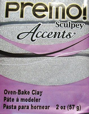 Sculpey PREMO ACCENTS - Polymer Clay - 57g - SILVER
