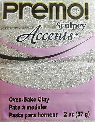 Sculpey PREMO ACCENTS - Polymer Clay - 57g - WHITE GOLD GLITTER