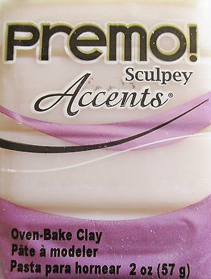 Sculpey PREMO ACCENTS - Polymer Clay - 57g - WHITE TRANSLUCENT