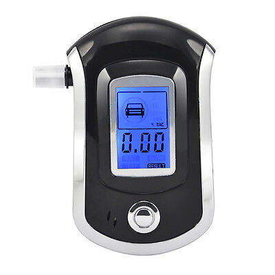 UK Police Digital Breath Alcohol Analyzer Tester LCD Breathalyzer Test Detector